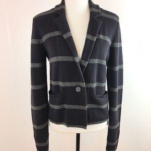 Ann Taylor Loft Striped Sweater Blazer Size Med